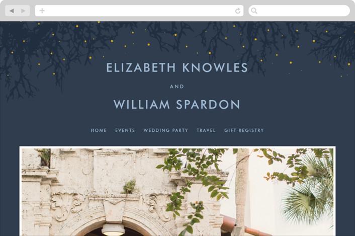 """""""Night In The Forest"""" - Wedding Websites in Indigo by 2birdstone."""