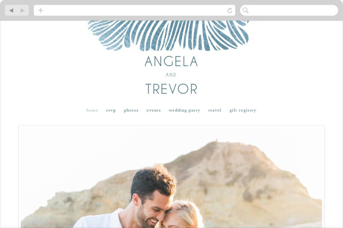 """Wailea Waves"" - Wedding Websites in Pacific Blue by raven erebus."