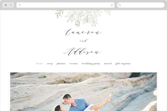 """""""Golden Fields"""" - Wedding Websites in Pearl by Annie Montgomery."""