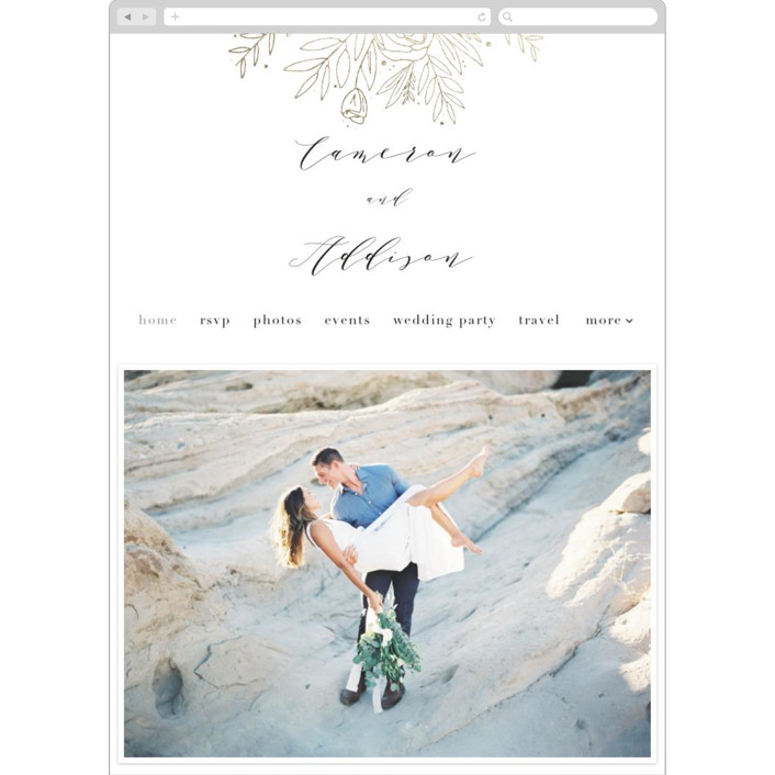 """Golden Fields"" - Wedding Websites in Pearl by Annie Montgomery."