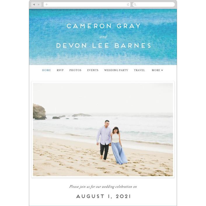 """Tide Pools"" - Wedding Websites in Sea by Krissy Bengtson."