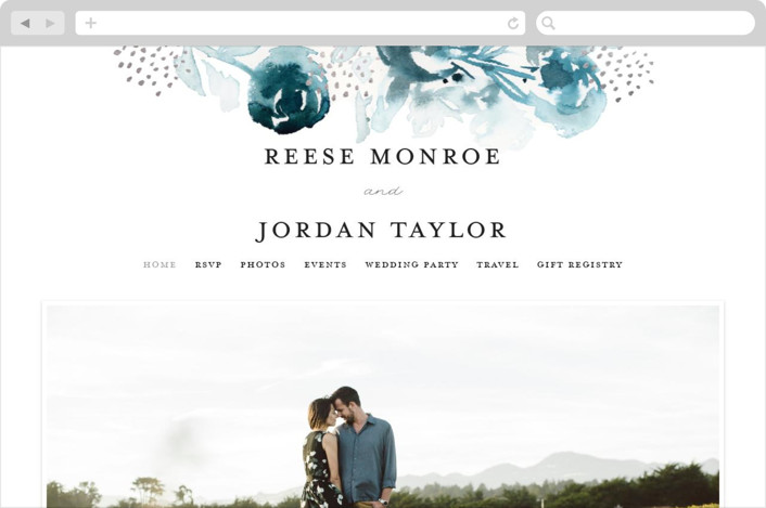 """Modern Muse"" - Wedding Websites in Peacock by Lindsay Megahed."