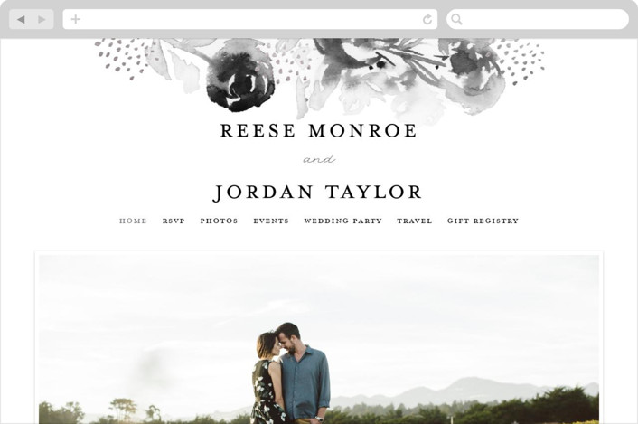 This is a yellow wedding website by Lindsay Megahed called Modern Muse printing on digital paper.