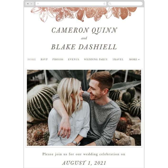 """Wild Blooms"" - Wedding Websites in Poppy by Christie Kelly."