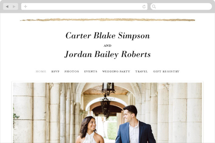 This is a white wedding website by Red Door Design called Minimalist Brush printing on digital paper.