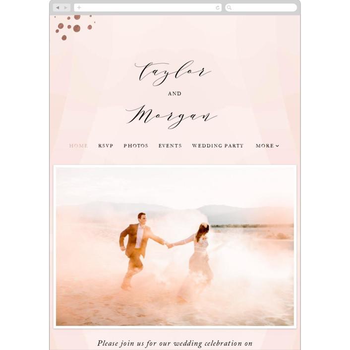 """""""Formal Watercolor"""" - Wedding Websites in Bashful by Jennifer Postorino."""