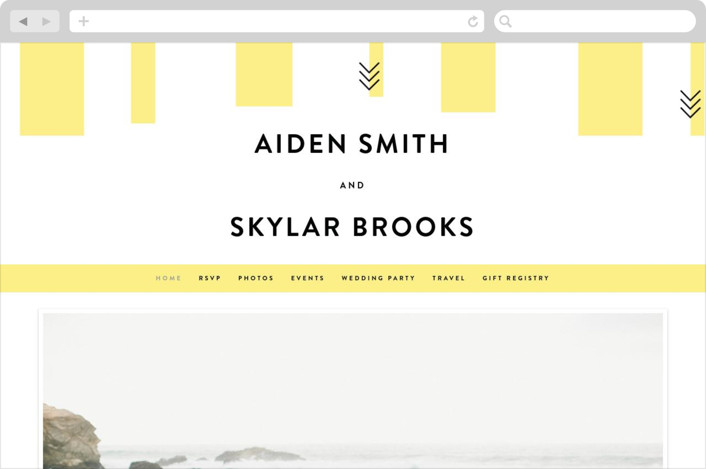 """Direction"" - Wedding Websites in Lemon by Owl and Toad."