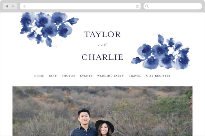 """Cornflower Wedding"" - Wedding Websites in Periwinkle by Chris Griffith."