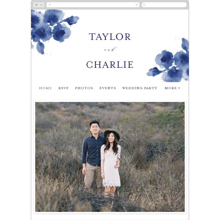"""Cornflower Wedding"" - Wedding Websites in Periwinkle by Chris Griffith."