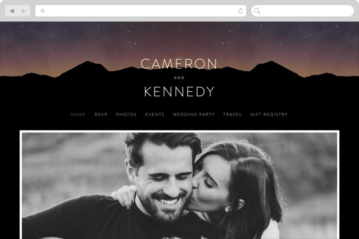 """Starry Skies"" - Wedding Websites in Twilight by Kelly Schmidt."