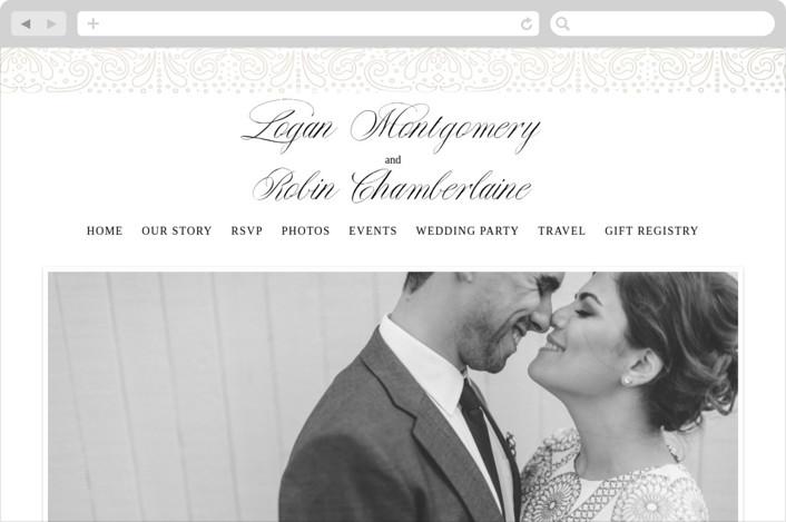 """Bond"" - Wedding Websites in Gold by Phrosne Ras."