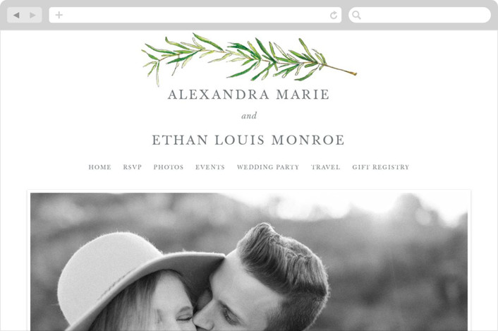 Simple Sprigs Wedding Websites by Erin Deegan
