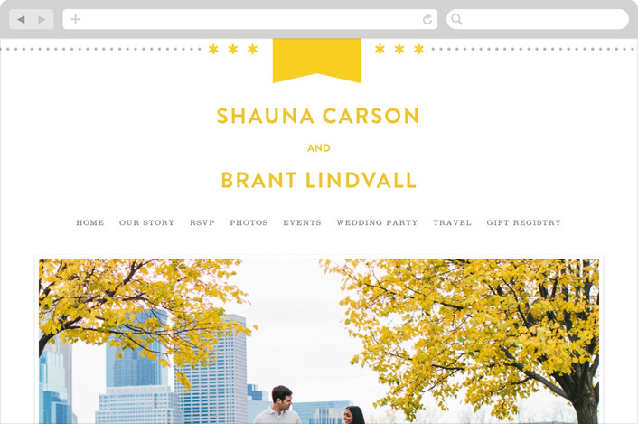 """Sunshine Day"" - Wedding Websites in Mustard by Michelle Taylor."