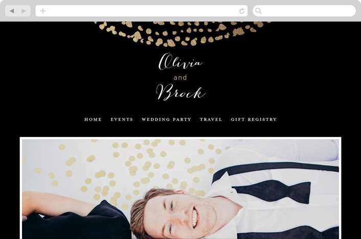 """Black-Tie"" - Wedding Websites in Darkness by Eric Clegg."