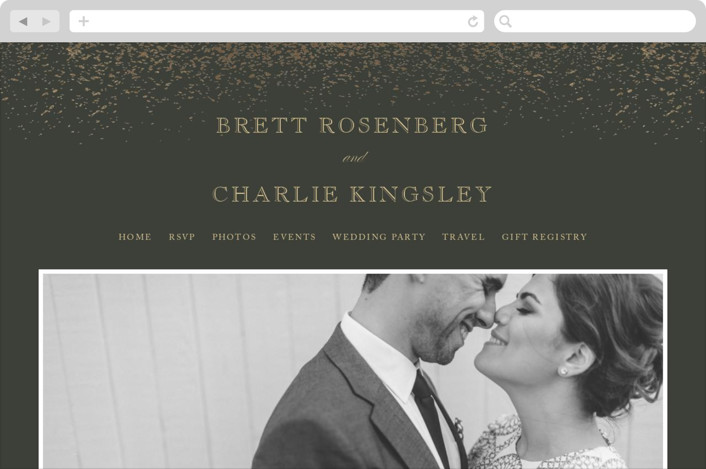 This is a black wedding website by fatfatin called Golden Dust printing on digital paper.