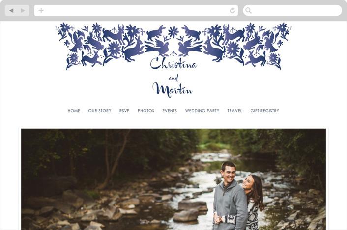 """Otomi"" - Wedding Websites in Denim by Paper Monkey Press."
