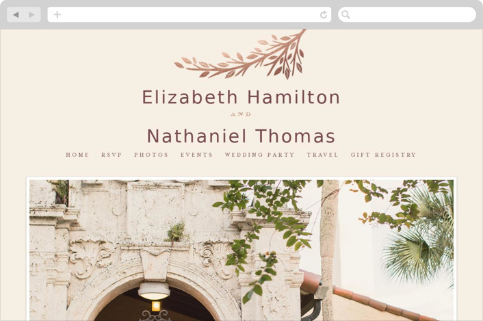 """Enchanted"" - Wedding Websites in Maple by Griffinbell Paper Co.."