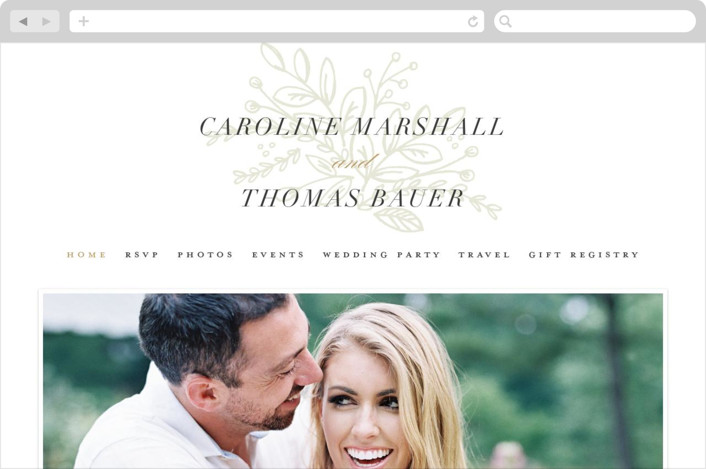 """Graceful"" - Wedding Websites in Gold by Jessica Williams."