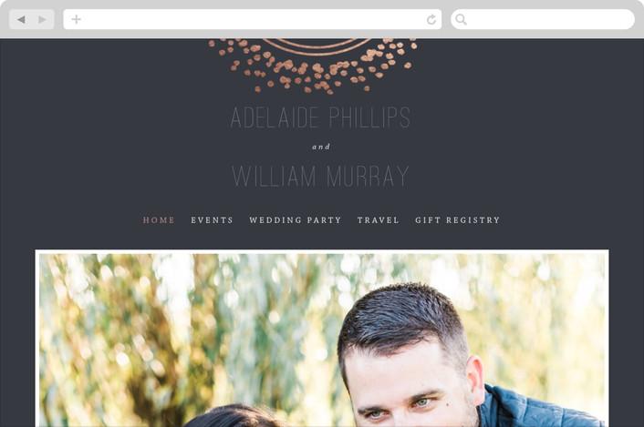 """""""Halo"""" - Wedding Websites in Galaxy by Design Lotus."""