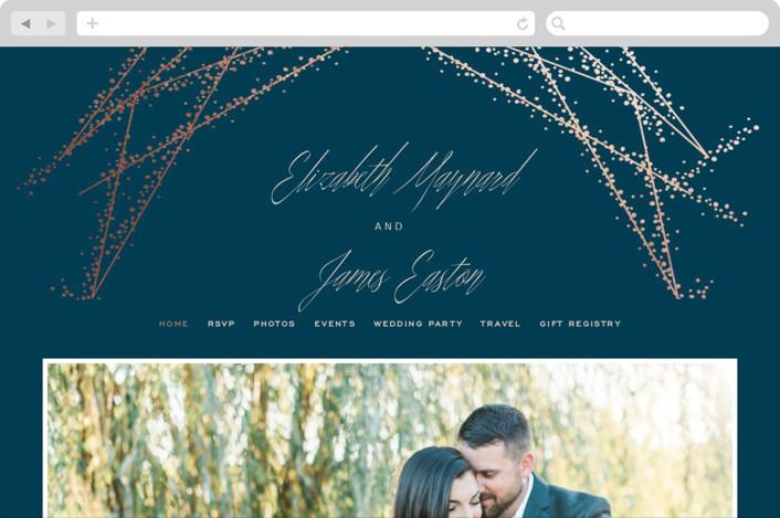 """Starcrossed"" - Wedding Websites in Twilight by Ashley Hegarty."
