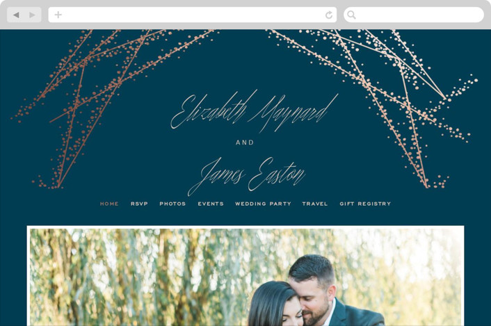 """Starcrossed"" - Wedding Websites in Twilight by Ashley Hegarty."