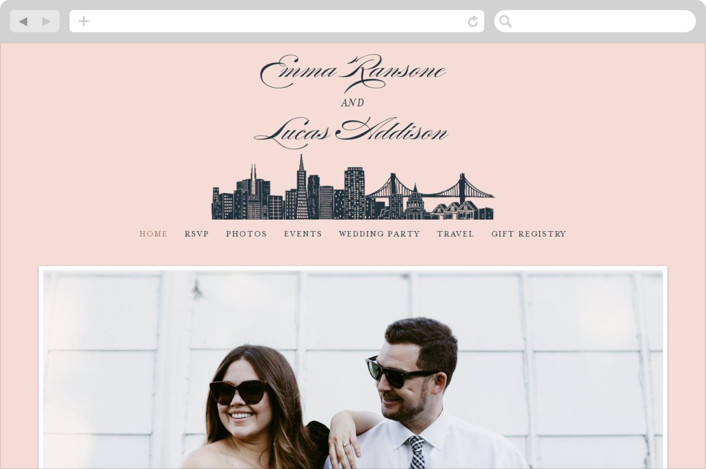 """Big City - San Francisco"" - Wedding Websites in Blush by Hooray Creative."