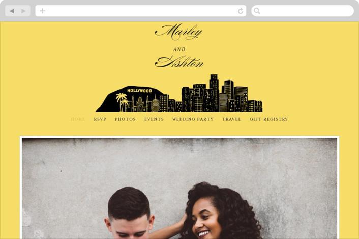 """Big City - Los Angeles"" - Destination, Modern Wedding Websites in Lemondrop by Hooray Creative."