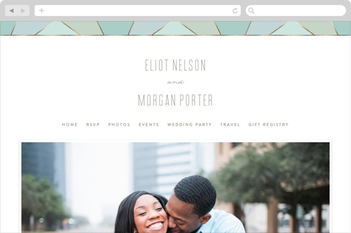 This is a blue wedding website by Sara Hicks Malone called Pavilion printing on digital paper.