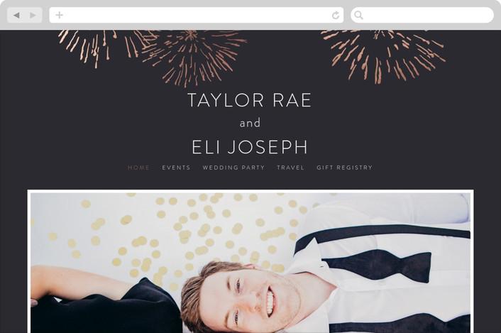 """""""Sparks"""" - Wedding Websites in Rose Gold by R studio."""
