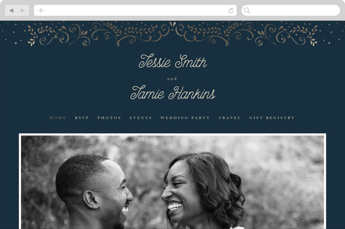 """Frame Of Love"" - Wedding Websites in Sapphire by Ana de Sousa."