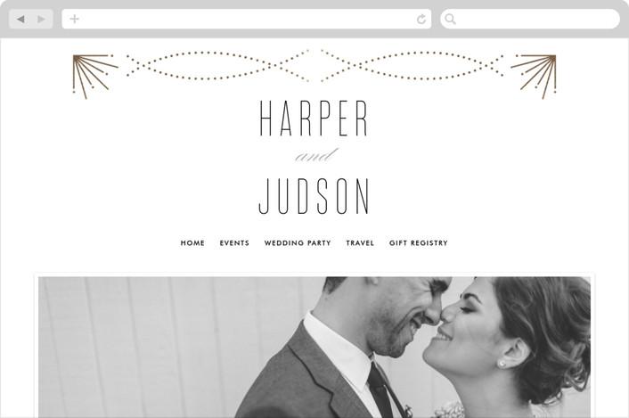 """""""Savoy"""" - Wedding Websites in Gold by Kristie Kern."""