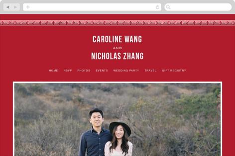 Double Happiness Seal Wedding Websites