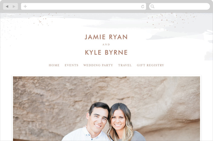 """Wisp"" - Wedding Websites in Cloudy by Jessica Williams."