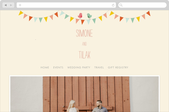 """""""Barn Party!"""" - Rustic, Whimsical & Funny Wedding Websites in Peach by ZucchiniPress."""