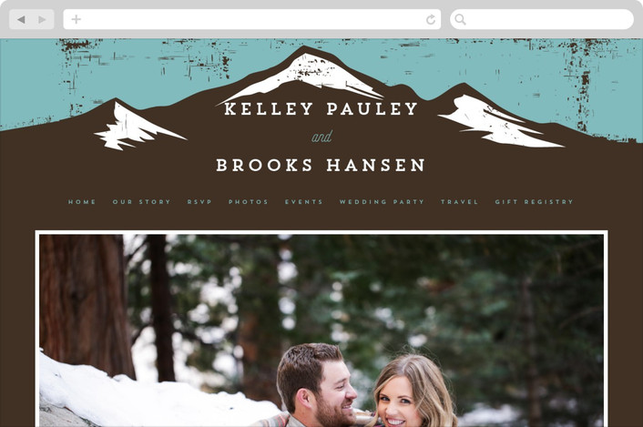 """Mountain Marriage"" - Destination, Bold typographic Wedding Websites in Lake by Jessica Corliss."