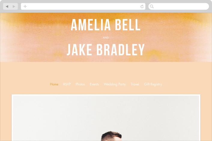 """Ombre"" - Modern, Simple Wedding Websites in Mandarin by Dean Street."