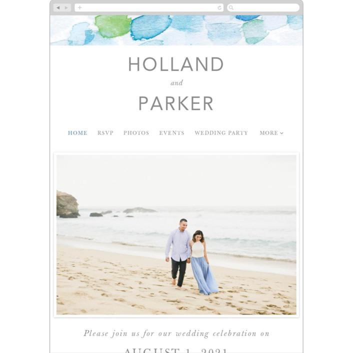 """""""Sea Glass"""" - Wedding Websites in Ocean by Caitlin Considine."""