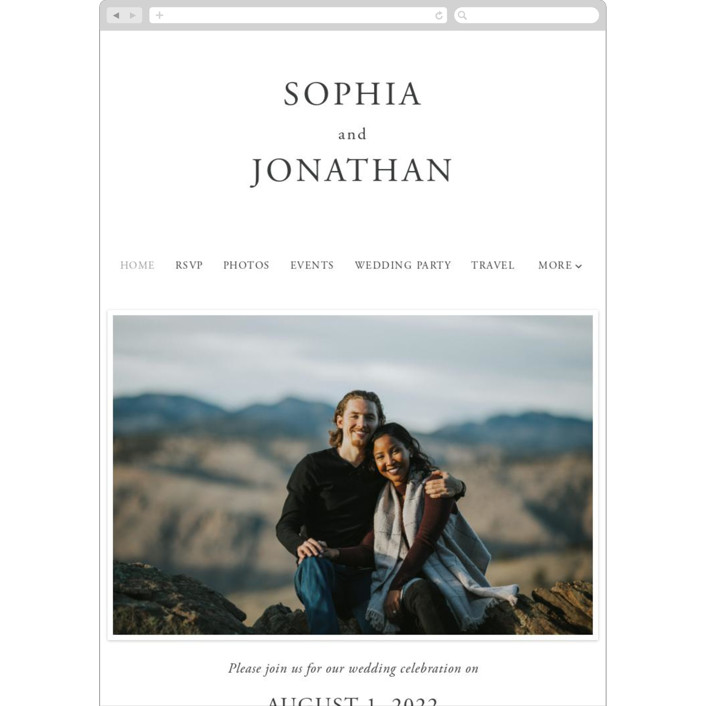 """""""The Minimalist"""" - Wedding Websites in Air by lulu and isabelle."""
