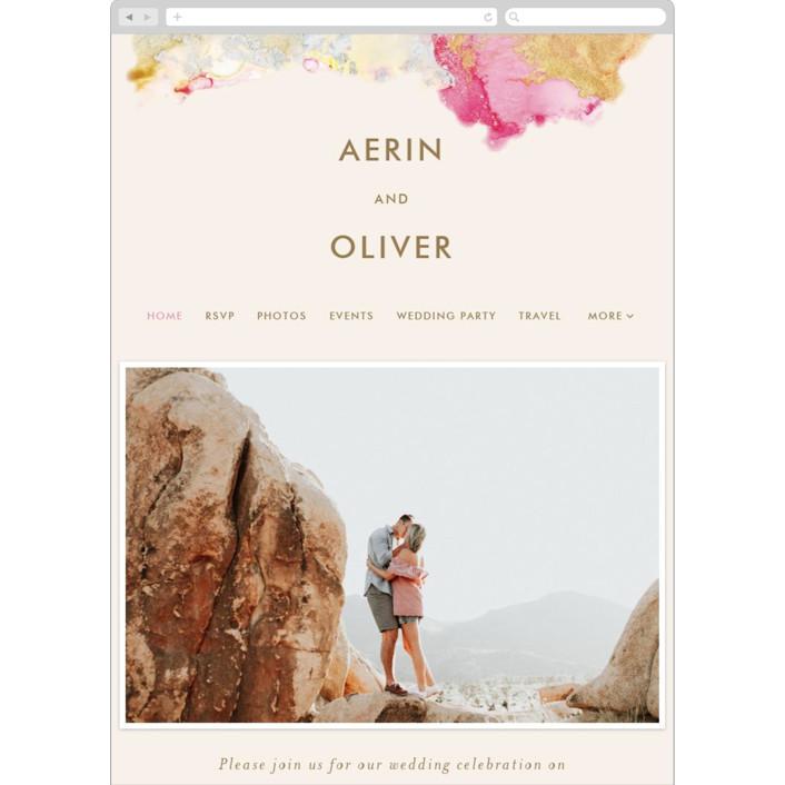 """""""desert chic"""" - Modern Wedding Websites in Blush by AK Graphics."""