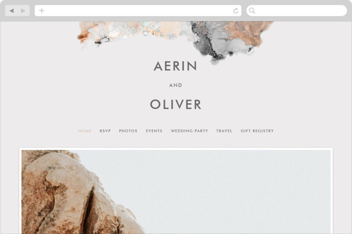 This is a grey wedding website by AK Graphics called desert chic printing on digital paper.