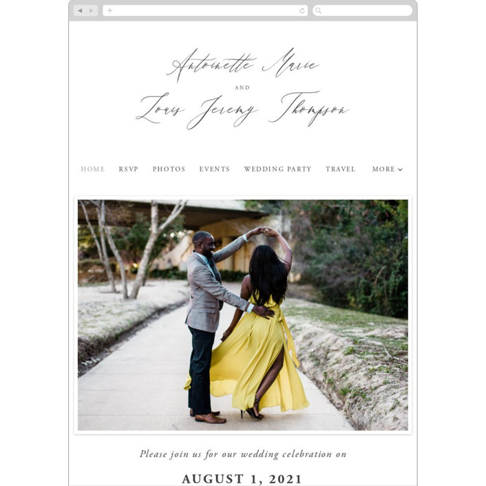"""""""Antoinette"""" - Wedding Websites in Ivory by lulu and isabelle."""