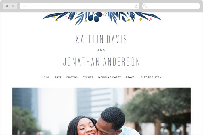 """Paradise"" - Wedding Websites in Seaside by Joanna Griffin."