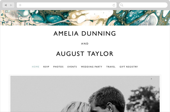 This is a green wedding website by Alethea and Ruth called swirl printing on digital paper.