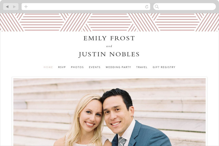 This is a pink wedding website by Kampai Designs called Tara printing on digital paper.