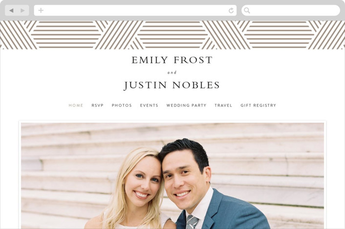 This is a brown wedding website by Kampai Designs called Tara printing on digital paper.