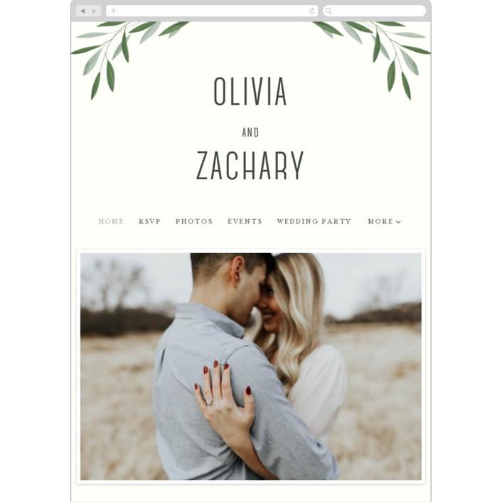 """""""Oliviers"""" - Wedding Websites in Spring by Gwen Bedat."""