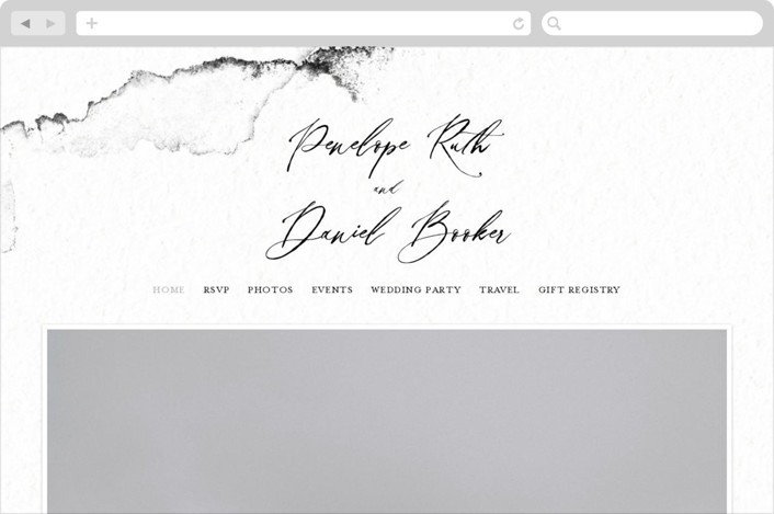 """Inky"" - Modern Wedding Websites in Ink by Pink House Press."