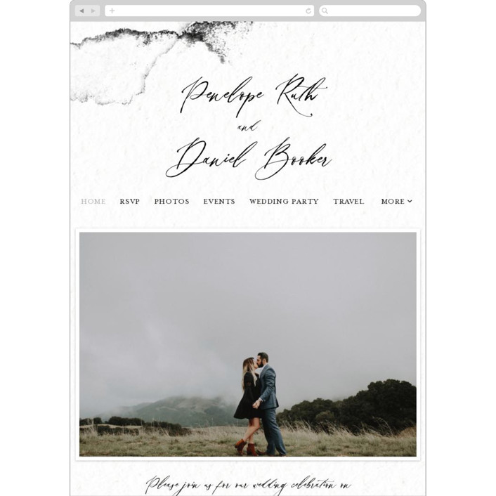 """Inky"" - Modern Wedding Websites in Ink by Pink House Press."