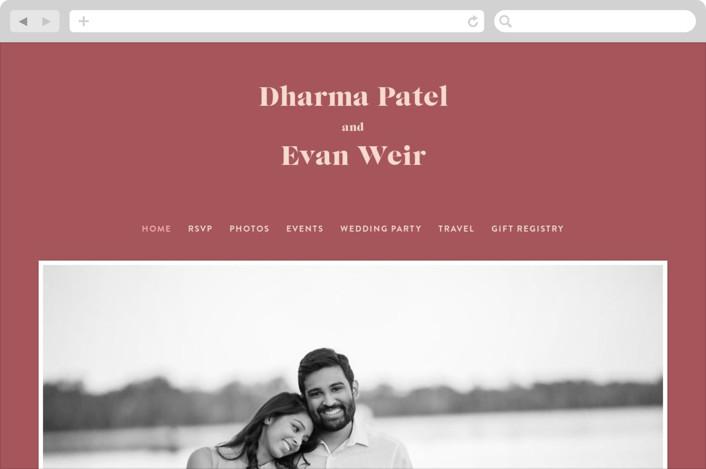 """""""headline"""" - Wedding Websites in Rust by Melissa Egan of Pistols."""