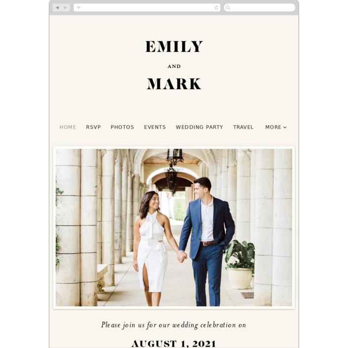 """Angled"" - Wedding Websites in Onyx by GeekInk Design."